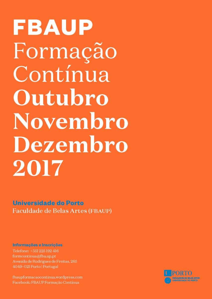 OFERTA FORMATIVA OUTUBRO NOVEMBRO DEZEMBRO 2017